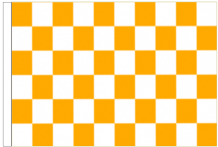 Orange And White Check 5' x 3' Larger Sleeved Flag